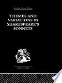 Themes and Variations in Shakespeare s Sonnets Book