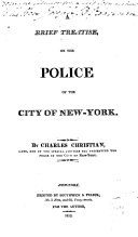 Pdf A Brief Treatise, on the Police of the City of New-York