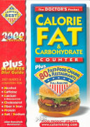 Pocket Calorie Fat   Carbohydrate Counter Book PDF
