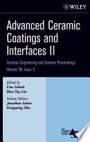 Advanced Ceramic Coatings And Interfaces Ii Book PDF