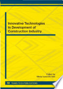 Innovative Technologies in Development of Construction Industry Book