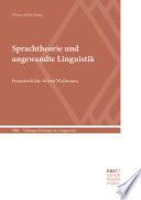 Sprachtheorie und angewandte Linguistik