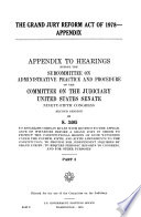 The Grand Jury Reform Act Of 1978