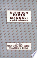 Nutrition Facts Manual