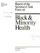 Report of the Secretary s Task Force on Black   Minority Health  Homicide  suicide  and unintentional injuries