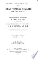 The Public General Statutes Affecting Scotland