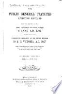 The Public General Statutes Affecting Scotland Book PDF