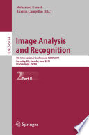 Image Analysis and Recognition  : 8th International Conference, ICIAR 2011, Burnaby, BC, Canada, June 22-24, 2011. Proceedings , Parte 2