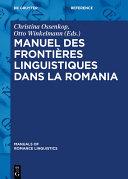 Pdf Manuel des frontières linguistiques dans la Romania Telecharger