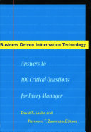 Business driven Information Technology Book