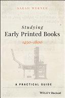 Studying Early Printed Books, 1450-1800 Pdf/ePub eBook