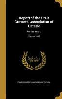 Report of the Fruit Growers' Association of Ontario