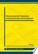 Environmental Protection and Sustainable Development Book