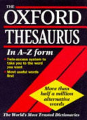 The Oxford Thesaurus