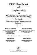 CRC Handbook of Engineering in Medicine and Biology