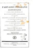 Il parnaso italiano continuato ... con illustrazioni biografiche, storiche e critiche