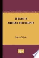 Essays in Ancient Philosophy