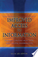 Improved Access To Information Book PDF