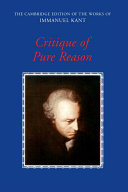 Pdf Critique of Pure Reason