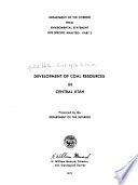 Development of Coal Resources in Central Utah: Regional analysis