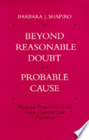 Beyond Reasonable Doubt And Probable Cause