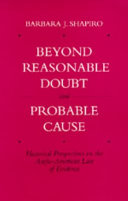 """Beyond Reasonable Doubt"" and ""probable Cause"": Historical ..."