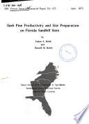 Slash Pine Productivity and Site Preparation on Florida Sandhill Sites