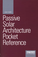 link to Passive solar architecture pocket reference in the TCC library catalog
