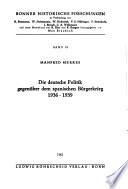 Die deutsche Politik gegenüber dem spanischen Bürgerkrieg, 1936-1939