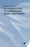 An Introduction to International Money and Finance Book