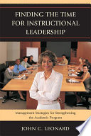 Finding the Time for Instructional Leadership