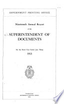 Annual Report of the Superintendent of Documents