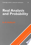 Real Analysis and Probability Book