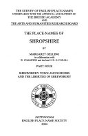 The Place names of Shropshire