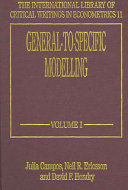 General to specific Modelling