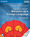 Books - Cambridge Igcse� Mandarin As A Foreign Language Coursebook With Audio Cd | ISBN 9781316629840