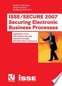 ISSE SECURE 2007 Securing Electronic Business Processes Book