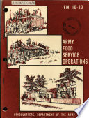 Army food service operations
