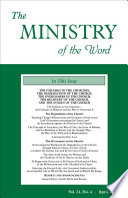 The Ministry Of The Word Vol 21 No 4