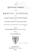 Pdf The Half-yearly Abstract of the Medical Sciences: Being a Digest of British and Continental Medicine