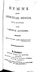 Hymns and Spiritual Songs  Selected from Various Authors
