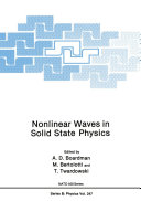 Nonlinear Waves in Solid State Physics
