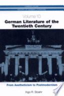 German Literature of the Twentieth Century