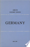 Oecd Economic Surveys Germany 1977