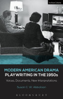 Modern American Drama  Playwriting in the 1950s