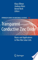 Transparent Conductive Zinc Oxide Book PDF