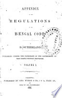 The Regulations of the Bengal Code in Force in September 1862