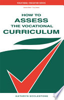 How to Assess the Vocational Curriculum