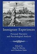 Pdf Immigrant Experiences