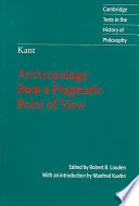 Kant Anthropology From A Pragmatic Point Of View Book PDF